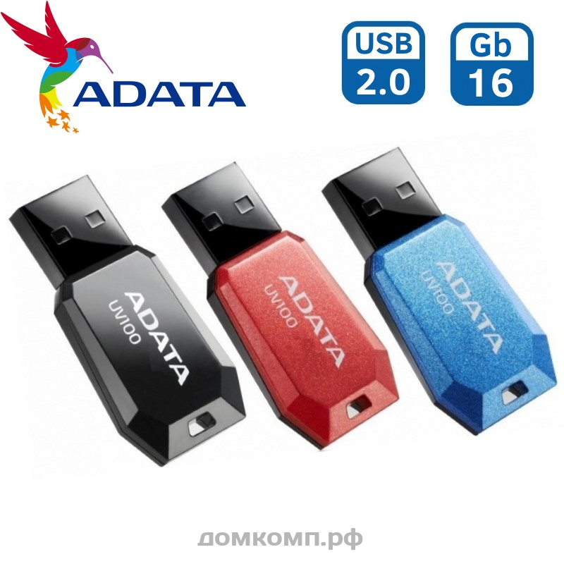 Память USB Flash 16 Гб A-Data UV100 USB 2.0