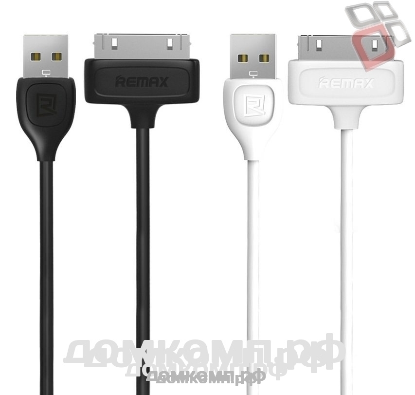 Кабель Apple 30pin - USB REMAX Lesu RC-050i4 черный 2A 1M